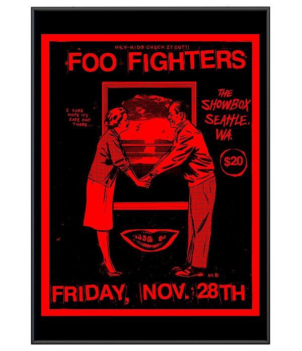 Poster Minimalista Rock Foo Fighters
