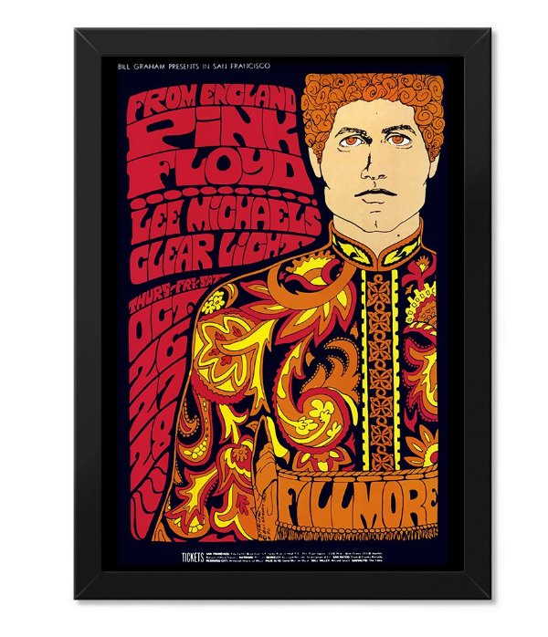 Poster Rock com Moldura Pink Floyd