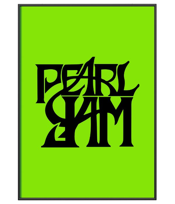 Poster minimalista Banda Pearl Jam Green