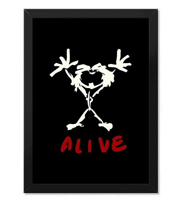 Poster com Moldura Pearl Jam Alive