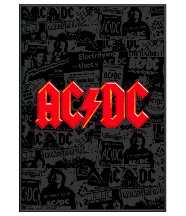 Poster Minimalista ACDC