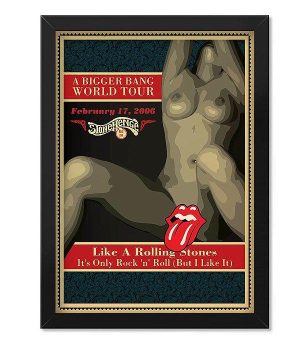 Poster com Moldura Rolling Stones