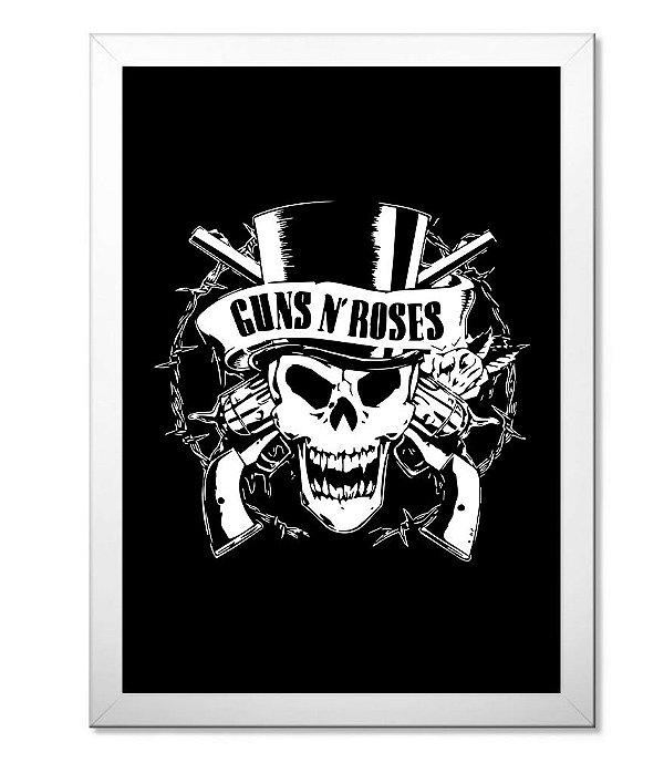 Poster com Moldura Guns N' Roses