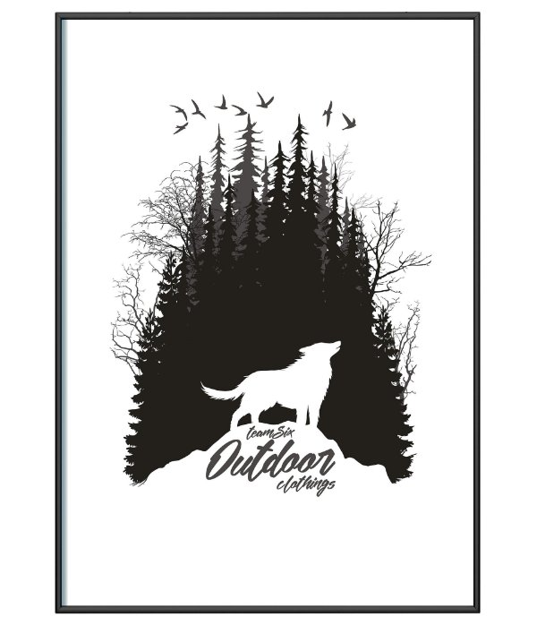 Poster Minimalista Outdoor Clothings