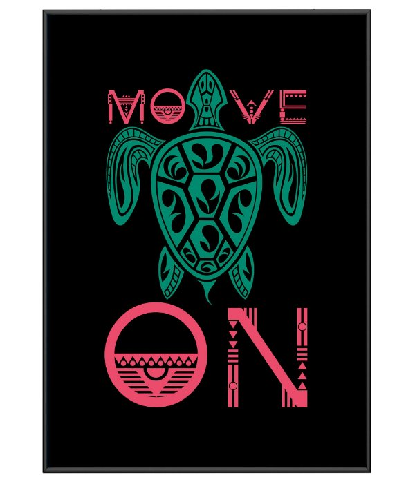 Poster Minimalista Outdoor Move On