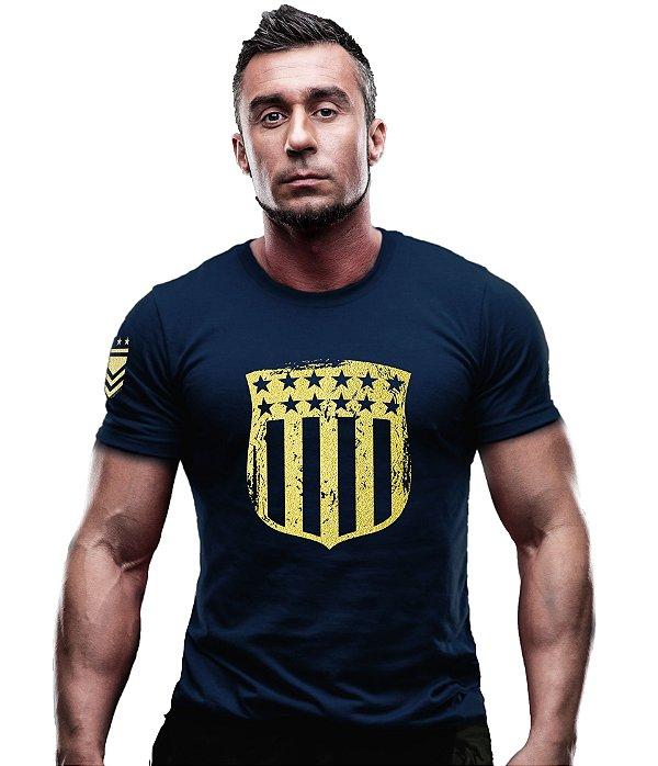Camiseta EUA Justice Gold