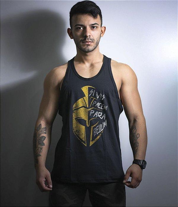 Camiseta Regata Militar Si Vis Pacem Para Bellum Sparta