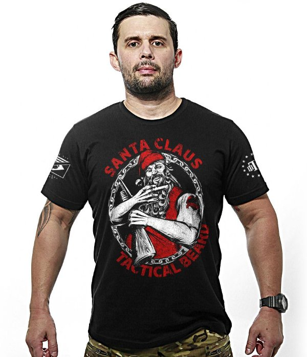 Camiseta Militar Santa Claus Tactical Beard