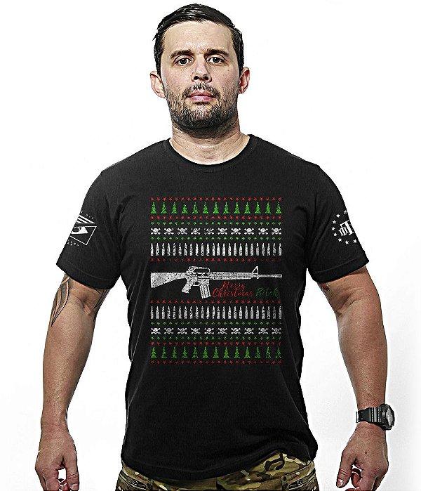 Camiseta Militar Merry Christmas Bitch