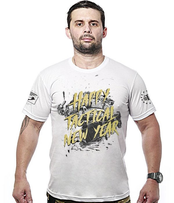 Camiseta Militar Happy Tactical New Year