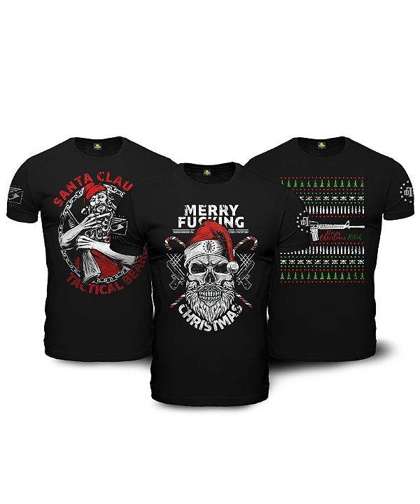 Combo Natal Encantado 03 Camisetas Militares