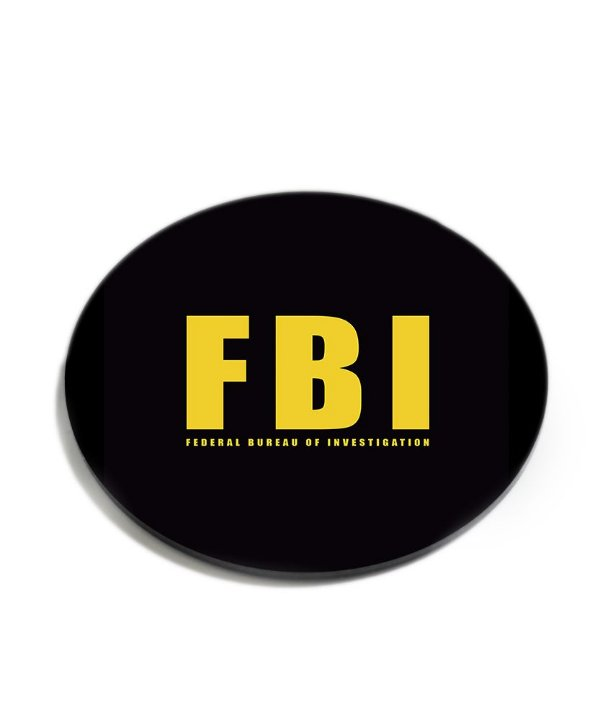 Porta Copos Militar FBI Acrílico