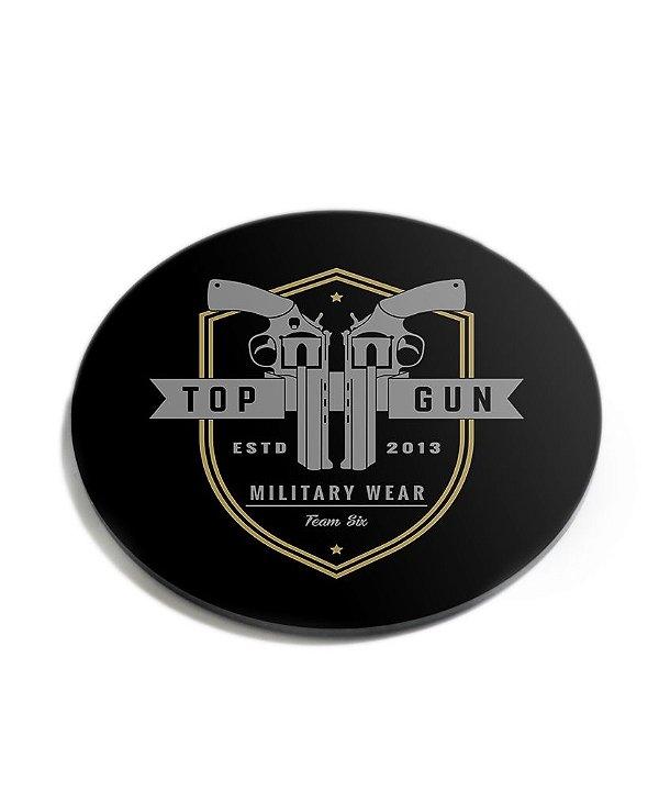 Porta Copos Militar Top Gun Acrílico
