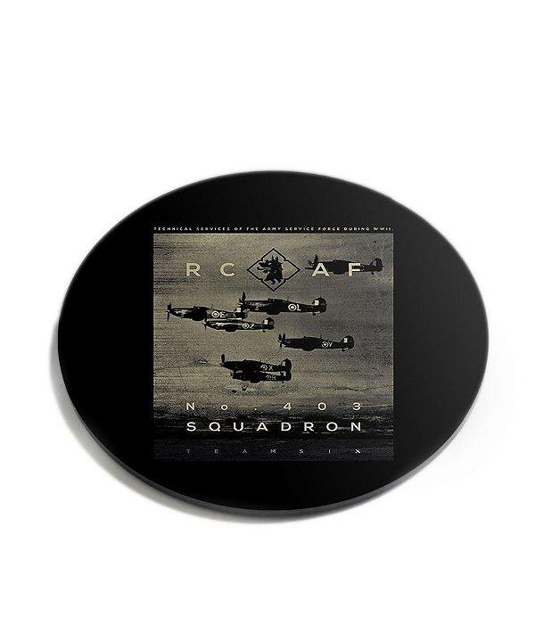 Porta Copos Militar RCAF Acrílico