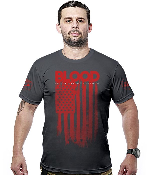 Camiseta Militar Blood Is The Ink Of Freedom Hurricane Line