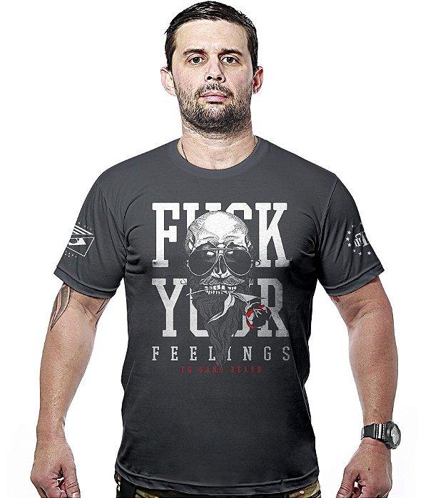 Camiseta Militar Fuck Your Feelings Hurricane Line