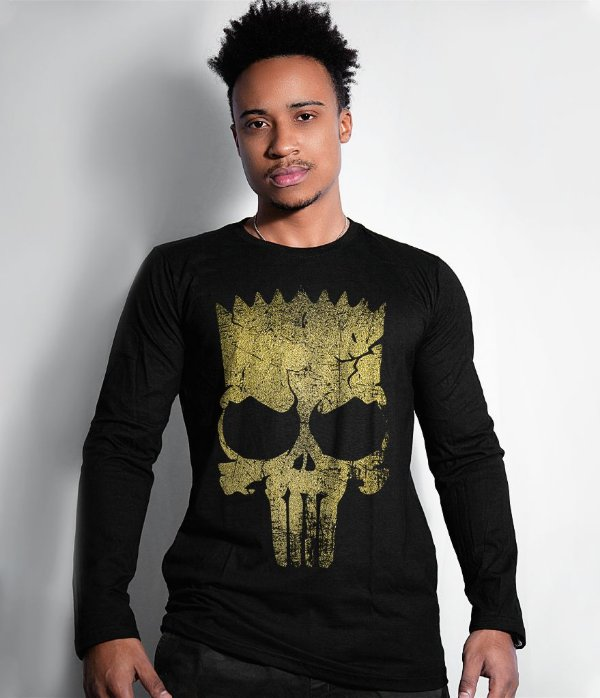 Camiseta Manga Longa Punisher Bart