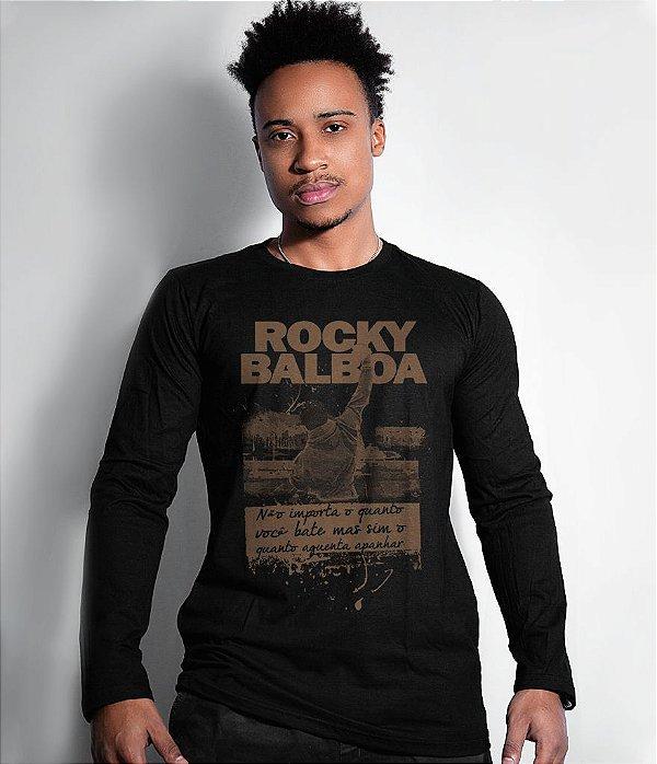 Camiseta Manga Longa Rocky Balboa