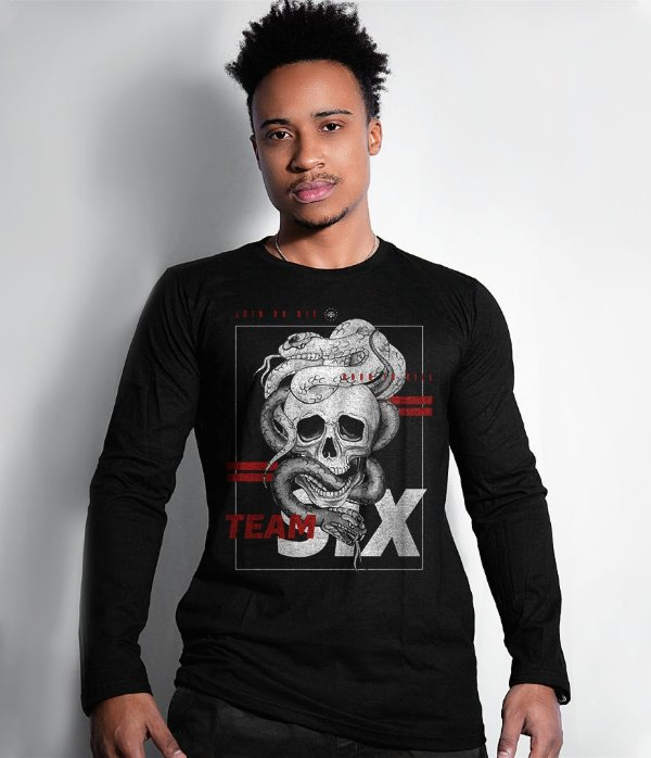 Camiseta Manga Longa Team Six Born To Kill