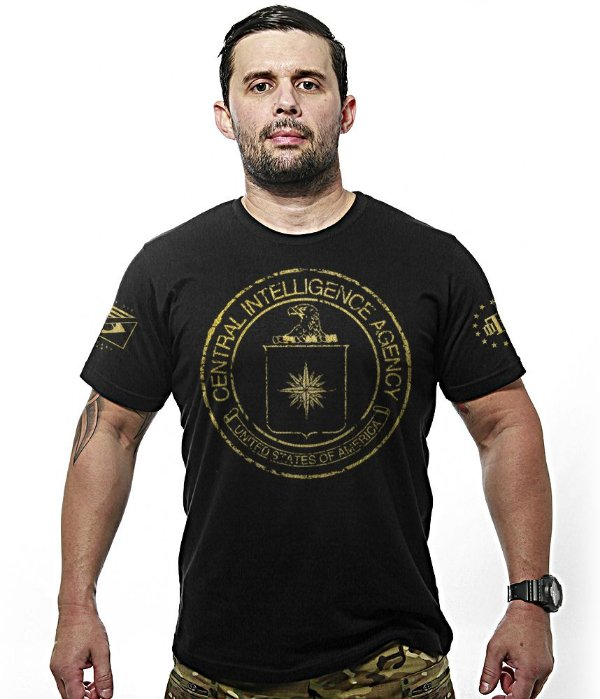 Camiseta Militar Central Intelligence Agency Gold Line