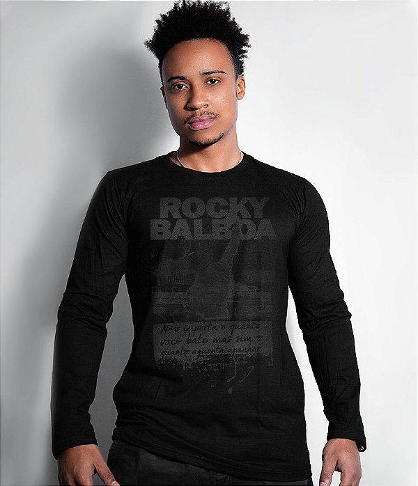 Camiseta Manga Longa Rocky Balboa Dark Line