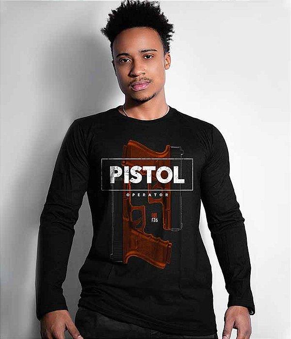 Camiseta Manga Longa GUFZ6 Glock Pistol Operator