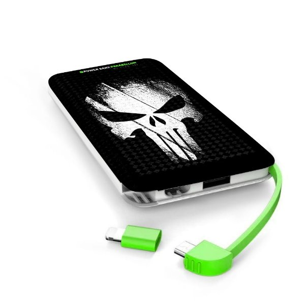 Carregador Portátil Power Bank Parabellum The Punisher