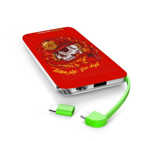 Carregador Portátil Power Bank Parabellum Firefighter