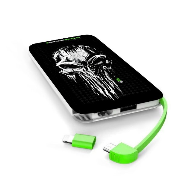 Carregador Portátil Power Bank Parabellum GUFZ6 Punisher Skull