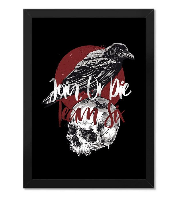 Poster Militar Concept com Moldura Crow Join Or Die