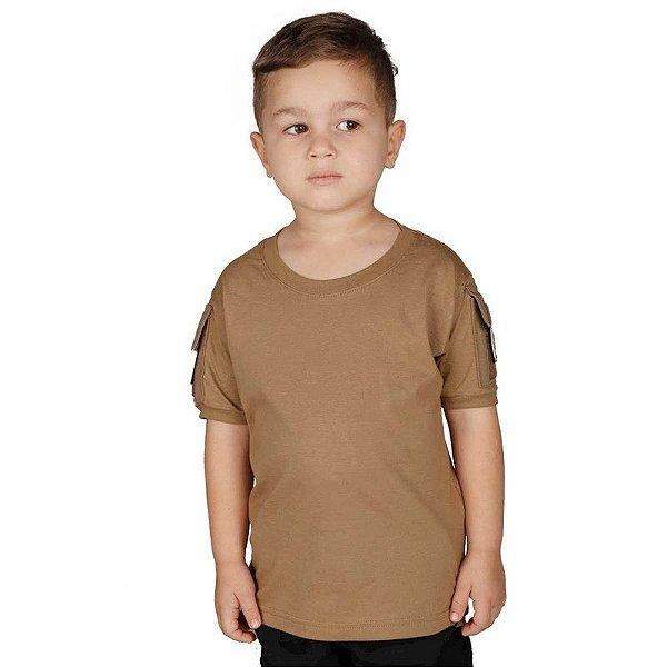 Camiseta Militar T Shirt Ranger Infantil Coyote Bélica