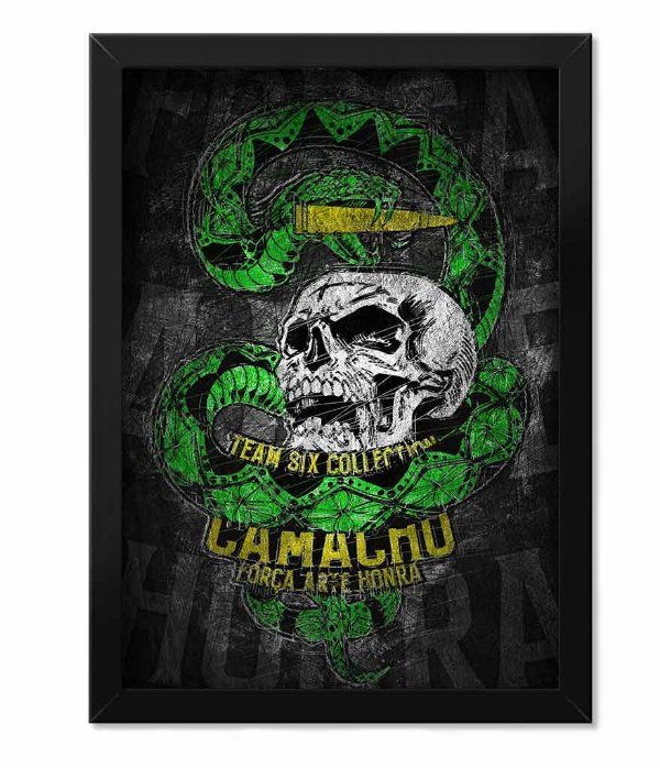 Poster com Moldura Squad T6 Camacho Ponto Cinquenta Team Six Collection