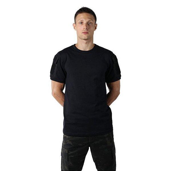 Camiseta T Shirt Tática Ranger Masculina Preta Bélica