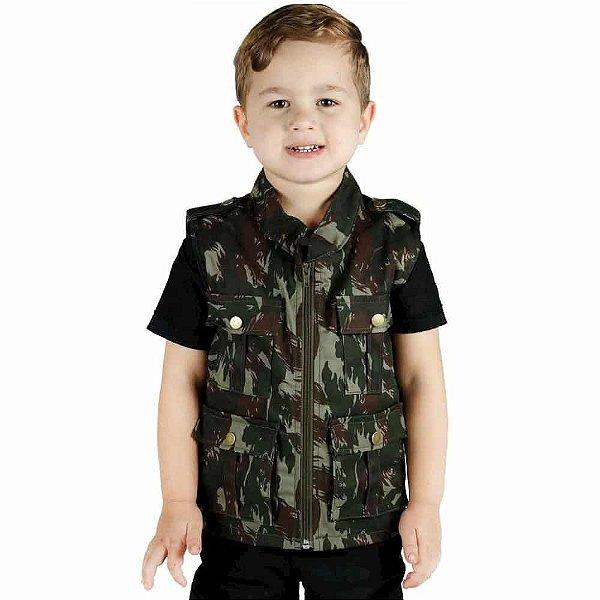 Colete Infantil Army Camuflado Exército Brasileiro Treme Terra