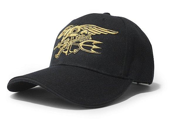 Boné Navy Seals Forças Especiais EUA Bordado Dourado