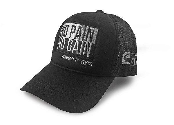 Boné No Pain No Gain Trucker