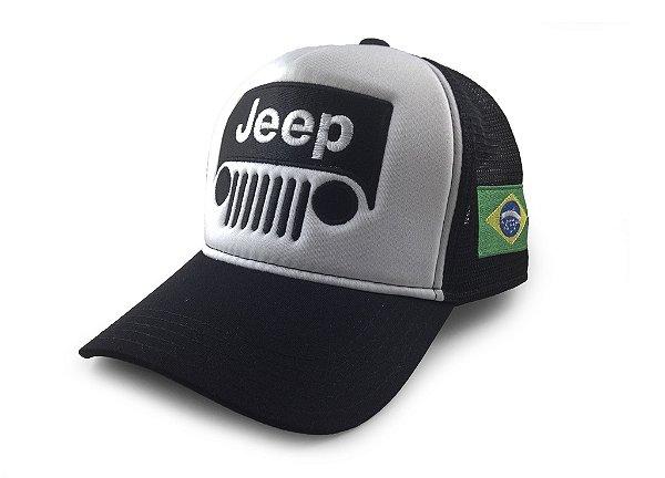 Boné Trucker Jeep Off Road Brasil