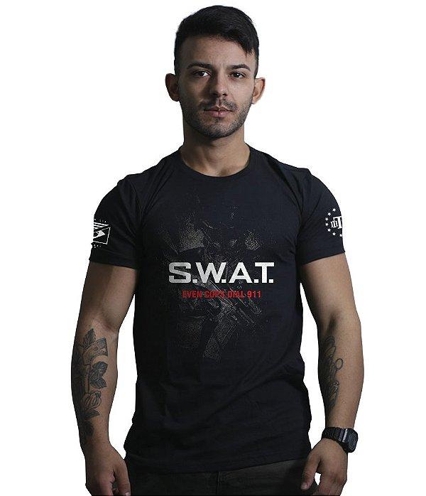 Camiseta Militar Masculina SWAT Forças Especiais EUA - Camisetas ... 3a288c68954