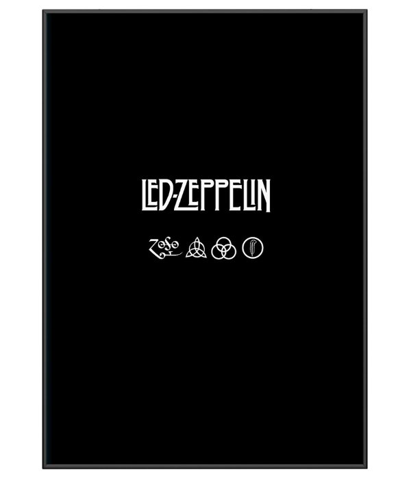 e180a9418 Poster Minimalista Da Banda Led Zeppelin - Camisetas Militares ...