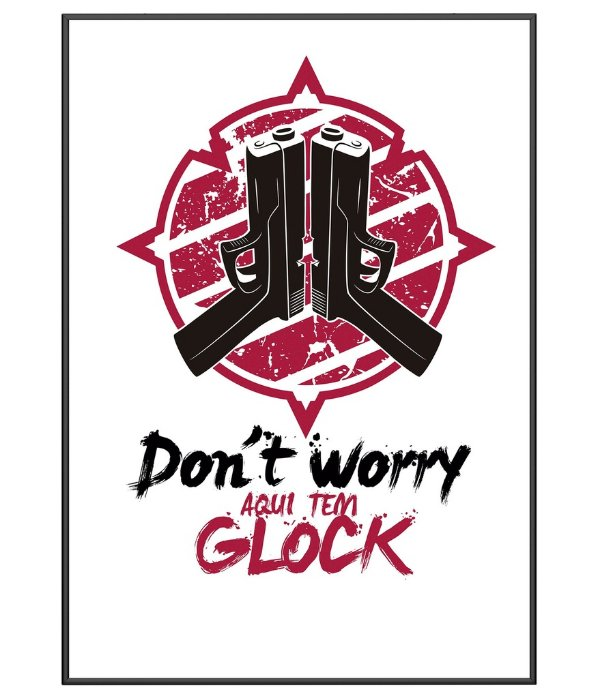 Poster Militar Temático Glock