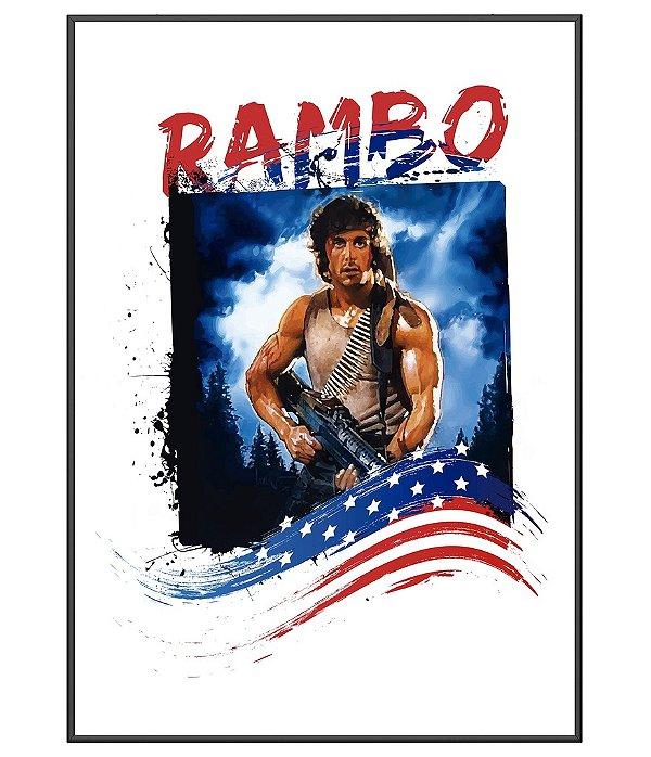 Poster Militar Temático Rambo