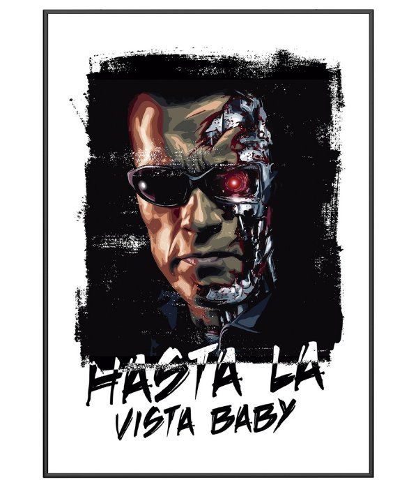 Poster Exterminador do Futuro Hasta La Vista Baby