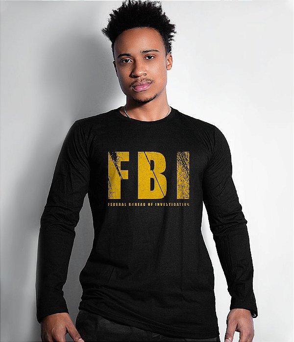 Camiseta Militar Manga Longa FBI