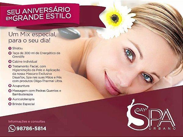Mix de Massagens - DaySpa Completo. 2 horas de duração