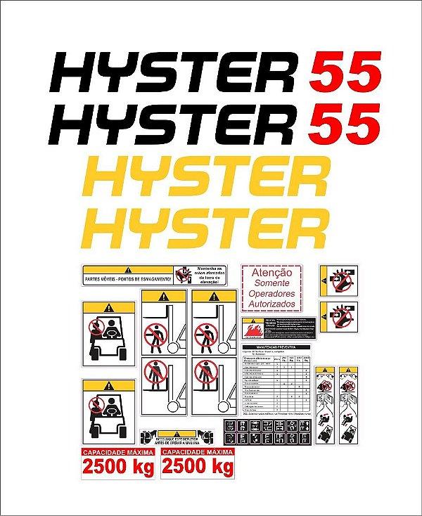 Kit de Adesivos Hyster 55 (Temos 50 55 60 70 XM e FT)