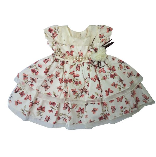 Vestido de bebe borboletas