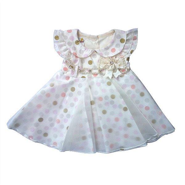 Vestido de bebê Bolinha