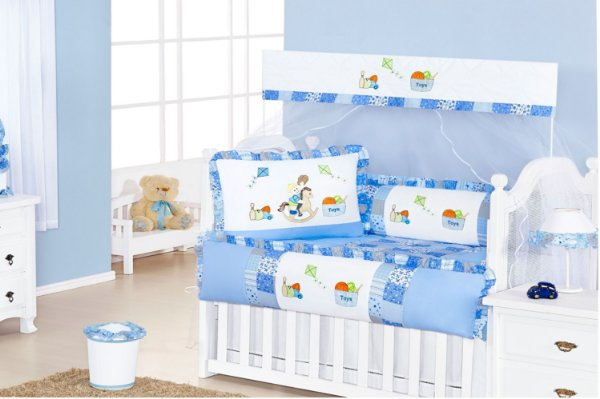 Enxoval de Quarto de Bebê Completo Pedrinho 15 peças