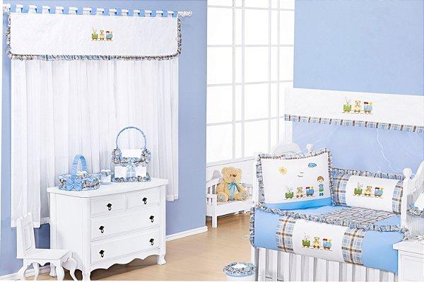 Enxoval Quarto de Bebê Completo de Bebe Amiguinhos  15 peças