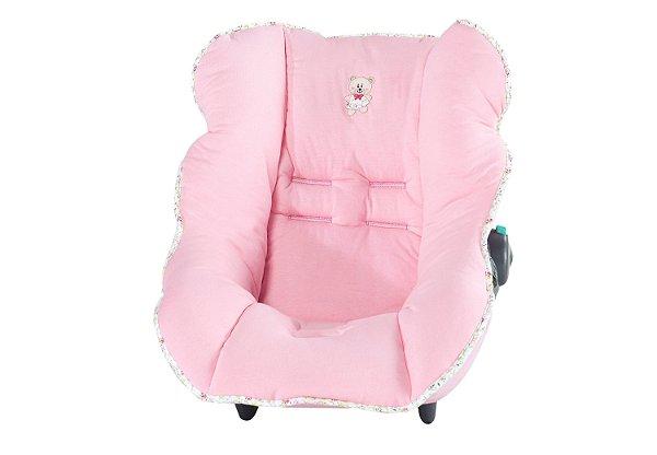 Capa de Bebê Conforto Ursinho Rosa